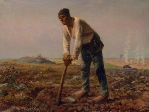 Man with a Hoe, 1860-1861 by Jean-François Millet