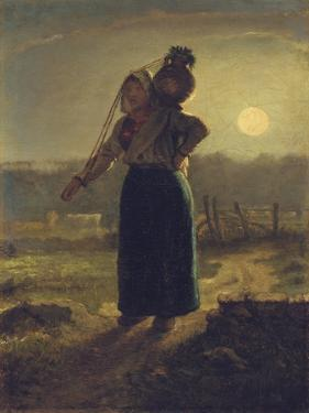 Norman Milkmaid, 1853-54 by Jean-Francois Millet