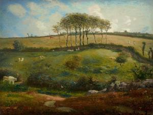 Pasture Near Cherbourg (Normandy), 1871-2 by Jean-Francois Millet