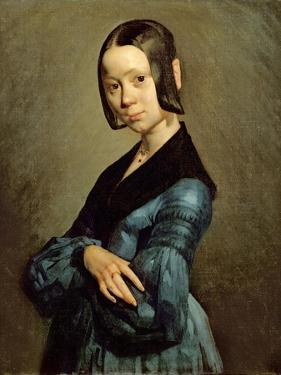 Pauline Ono (1821-44) in Blue, 1841-42 by Jean-François Millet
