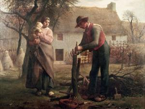 Peasant Grafting a Tree by Jean-François Millet