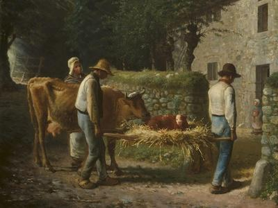 Peasants Bringing Home a Calf Born in the Fields, 1864