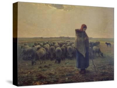 Shepherdess with Her Flock (La Grande Bergere), 1863