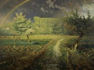 Spring Landscape with Rainbow (Le Printemps), 1868/73 by Jean-François Millet