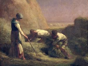 The Hay Trussers, 1850-51 by Jean-François Millet