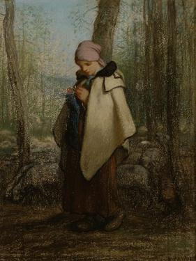 The Knitting Shepherdess, 1856-57 by Jean-Francois Millet