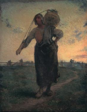 The Norman Milkmaid in Gréville, c.1874 by Jean-François Millet