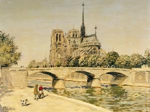 Notre Dame and the Seine by Jean Francois Raffaelli