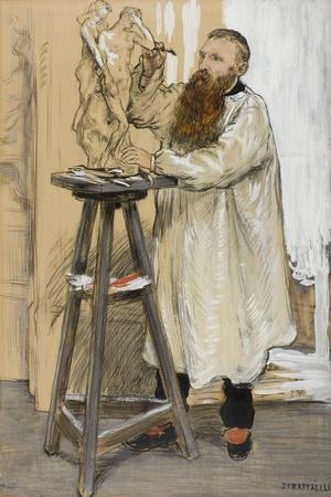 Portrait of the Sculptor Auguste Rodin in His Studio, C.1889