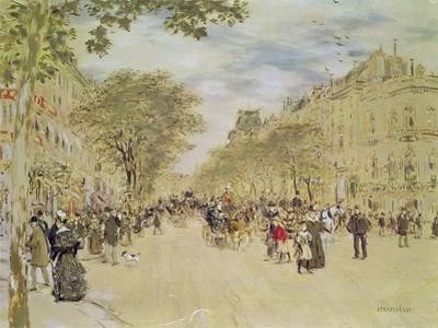 The Pavillon De Hanovre and the Boulevard Des Italiens, Paris, after 1870