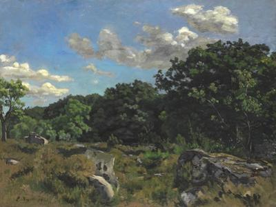 Landscape at Chailly, 1865 by Jean Frederic Bazille