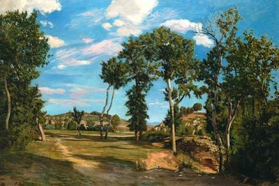 Landscape by the Lez River, 1870 by Jean Frederic Bazille