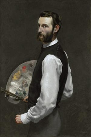 Self portrait, 1865-66 by Jean Frederic Bazille