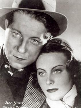 Jean Gabin and Michele Morgan in the Film Quai Des Brumes 1938