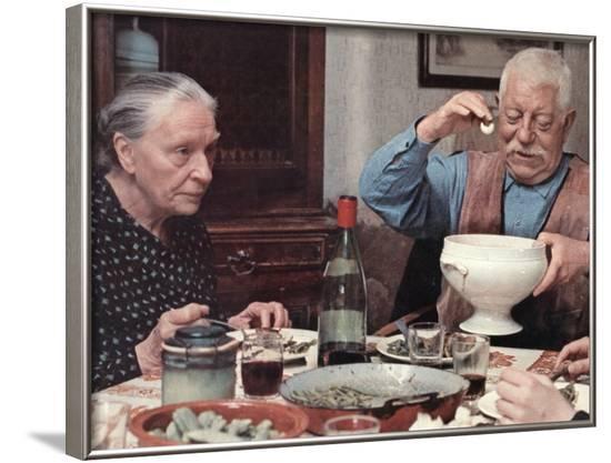 Jean Gabin: L'Affaire Dominici, 1973-Marcel Dole-Framed Photographic Print
