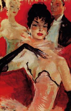 At La Scala or The Lodge of Hagel (A la Scala ou La loge d'Hagel) by Jean-Gabriel Domergue
