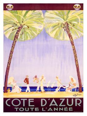 Cote d'Azur by Jean-Gabriel Domergue