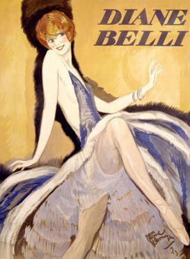 Diane Belli by Jean-Gabriel Domergue