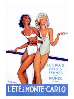 L'Ete a Monte Carlo by Jean-Gabriel Domergue