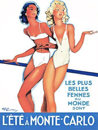 Summer in Monte Carlo by Jean-Gabriel Domergue