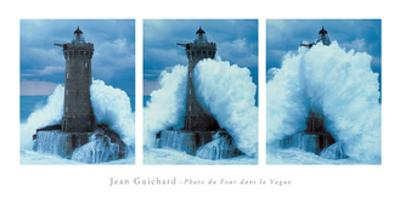 Phare Du Four, Bretagne Triptych by Jean Guichard