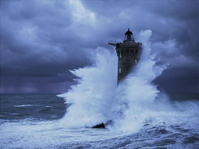 Phare du Four, Bretagne by Jean Guichard