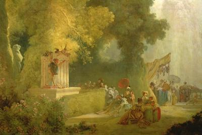 The Fete at Saint-Cloud, Detail of the Puppet Show (Detail)