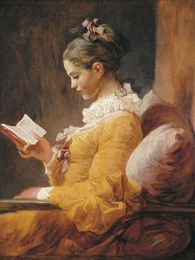 A Young Girl Reading by Jean-Honoré Fragonard