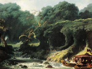 Fete at Rambouillet or Island of Love, Circa 1770 by Jean-Honoré Fragonard