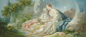 Jupiter Disguised as Diana Tries to Seduce Callisto, C.1753 by Jean-Honore Fragonard