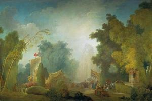 The Festival in the Park of St, Cloud, 1778-80 by Jean-Honoré Fragonard
