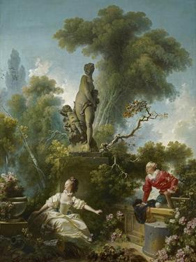 The Progress of Love: the Meeting, Ca 1773 by Jean-Honoré Fragonard