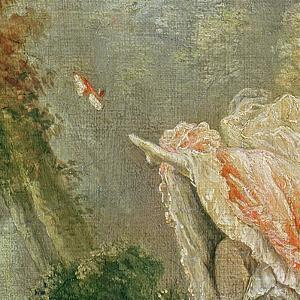 The Swing (Detail) by Jean-Honoré Fragonard