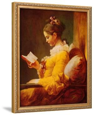 Young Girl Reading by Jean-Honoré Fragonard