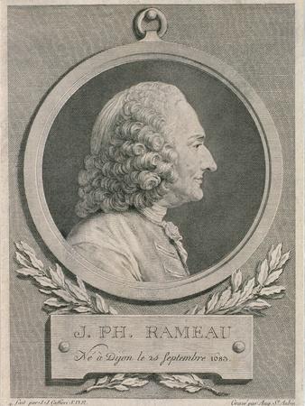 Portrait of Jean Philippe Rameau (1683-1764) Engraved by Auguste De Saint-Aubin