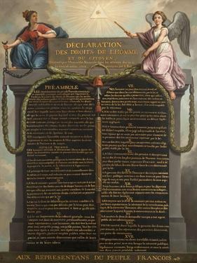 Déclaration des droits de l'homme et du citoyen by Jean Jacques François Le Barbier