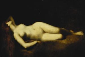 A Reclining Nude by Jean-Jacques Henner