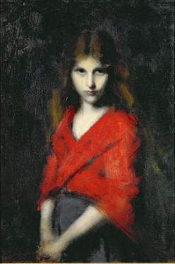 Portrait of a Young Girl, The Shiverer by Jean-Jacques Henner