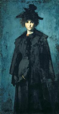 Portrait of Madame Laura Leroux by Jean-Jacques Henner
