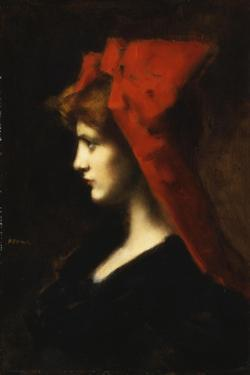 The Red Hat by Jean-Jacques Henner
