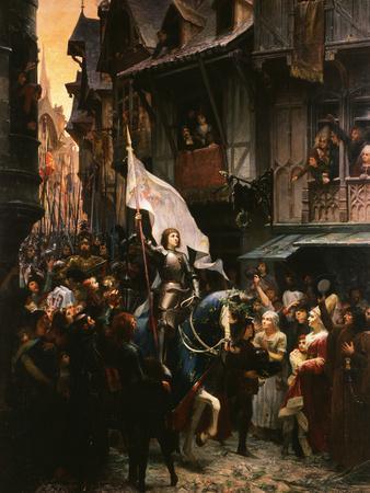 Entrance of Saint Joan of Arc, 1412-31, into Orleans, France