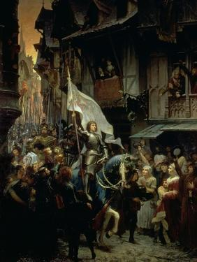 The Entrance of Joan of Arc into Orleans on 8th May 1429 by Jean-jacques Scherrer