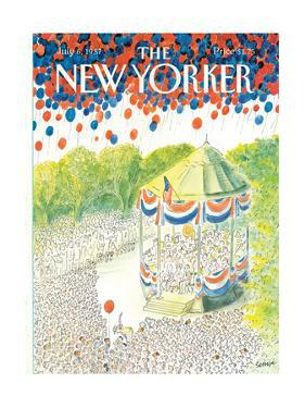 The New Yorker Cover - July 6, 1987 by Jean-Jacques Sempé
