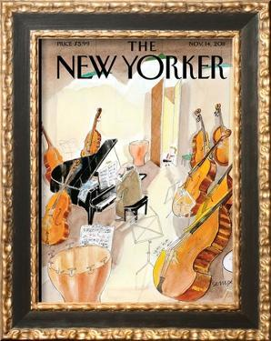 The New Yorker Cover - November 14, 2011 by Jean-Jacques Sempé