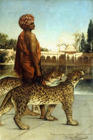 The Palace Guard with Two Leopards by Jean Joseph Benjamin Constant