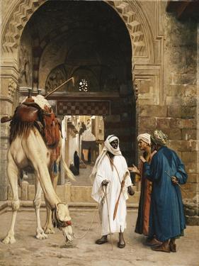 A Dispute Among Arabs; Dispute D'Arabes, 1872 by Jean Leon Gerome