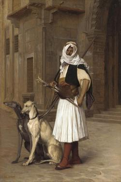 Anaute Avec Deux Chiens Whippets, 1867 by Jean Leon Gerome