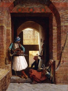 Arnaut Bodyguards in Cairo, 1861 by Jean Leon Gerome