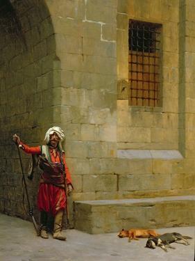 Arnaut Et Chiens, c.1879 by Jean Leon Gerome
