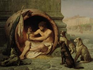 Diogenes, 1860 by Jean Leon Gerome